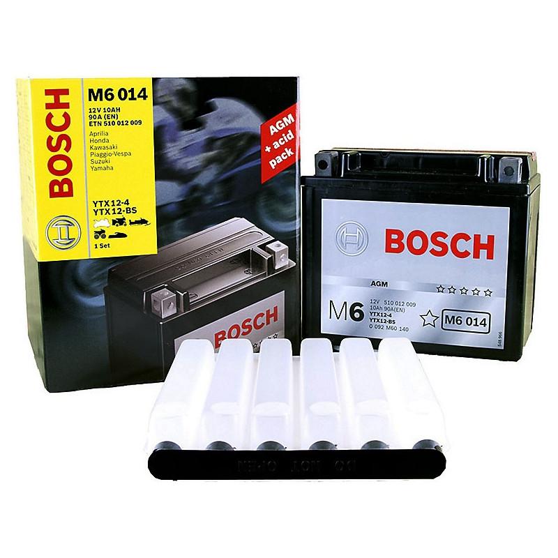 Мотоциклетный аккумулятор (10Ah 12V) AGM Bosch M6 014 для Мото-водной и наземной техники, Квадроциклов