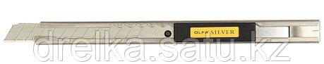 Нож OLFA с выдвижным лезвием и корпусом из нержавеющей стали, 9мм , фото 2