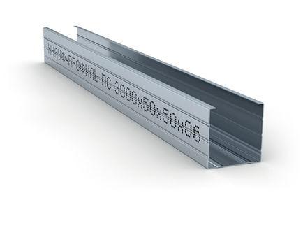 Стоечный профиль металлический Кнауф (ПС) 100/50 (0,6 мм)