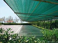Фасадная строительная затеняющая сетка 35 гр/кв.м 30% затемнения зеленая 3