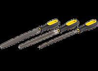 """Набор STAYER """"PROFI"""": Напильники сдвухкомпонетной рукояткой плоский, трехгран, круглый №2, 150мм"""