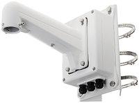 DS-1602ZJ-box-pole - Металлический кронштейн с распредкоробкой для крепления скоростных купольных камер на