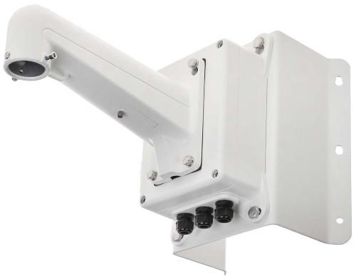 DS-1602ZJ-box-corner - Металлический кронштейн с распредкоробкой для крепления скоростных купольных камер на угол.