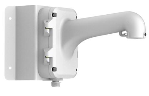 DS-1604ZJ-box-corner - Металлический кронштейн с распредкоробкой для крепления скоростных купольных камер на