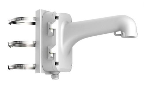 DS-1604ZJ-box-pole - Металлический кронштейн с распредкоробкой для крепления скоростных купольных камер на