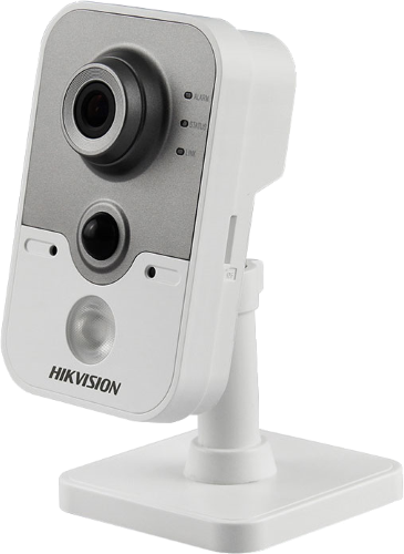 DS-2CD2455FWD-I - 5MP Внутренняя кубическая камера с ИК-подсветкой и пассивным датчиком обнаружения движения.