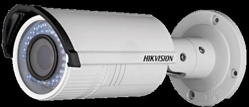 DS-2CD2642FWD-I - 4MP Уличная варифокальная цилиндрическая IP-камера с ИК-подсветкой, на кронштейне.