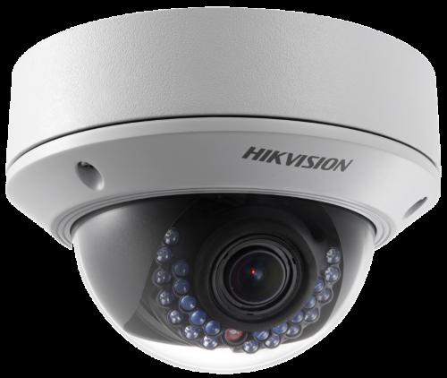 DS-2CD2722FWD-I - 2MP Уличная варифокальная антивандальная купольная IP-камера с ИК-подсветкой.