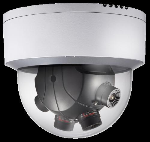 DS-2CD6986F - 8MP Уличная высокочувствительная панорамная (PanoVu*) купольная IP-камера с поддержкой Аудио/Тревоги.