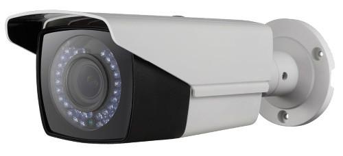 DS-2CE16D1T-AVFIR3 - 2MP Уличная варифокальная цилиндрическая HD-TVI-камера с ИК-подсветкой и двойным питанием, на кронштейне.