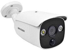 DS-2CE12D8T-PIRL - 2MP Уличная высокочувствительная цилиндрическая HD-TVI камера со Smart-ИК, белой подсветкой