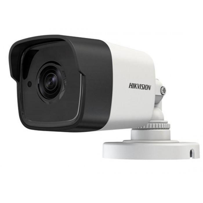 DS-2CE16F7T-IT - 3MP Уличная цилиндрическая HD-TVI-камера с EXIR* ИК-подсветкой на кронштейне.