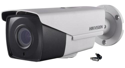DS-2CE16F7T-IT3Z + DS-1H18 - Комплект 3MP уличной цилиндрической варифокальной (моторизованный) HD-TVI-камеры с EXIR* ИК-подсветкой, на кронштейне и в