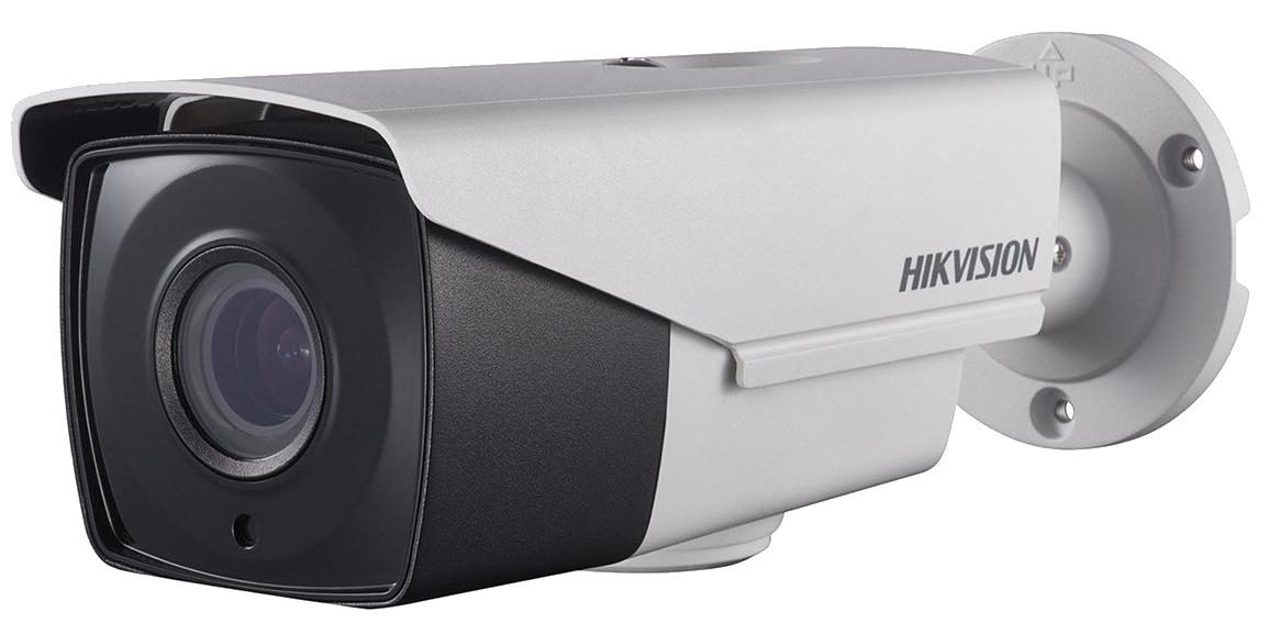 DS-2CE16H1T-IT3Z - 5MP Уличная цилиндрическая варифокальная (моторизованный) HD-TVI-камера с EXIR* ИК-подсветкой и двойным питанием, на кронштейне.