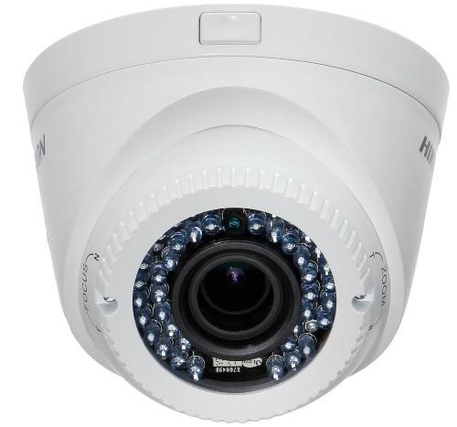 DS-2CE56D1T-IR3Z - 2MP Уличная купольная варифокальная (моторизованный) HD-TVI-камера с ИК-подсветкой.