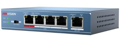 DS-3E0105P-E - 4-х портовый неуправляемый PoE-свитч.
