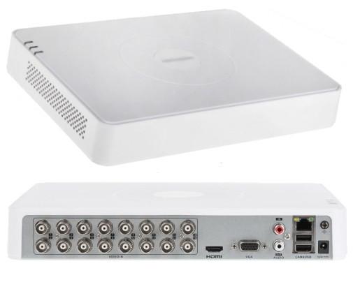 DS-7116HQHI-K1 - 16-ти канальный гибридный видеорегистратор с разрешением записи до 4 MP на канал.