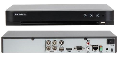 DS-7204HQHI-K1/P - 4-х канальный гибридный видеорегистратор с разрешением записи до 4 MP на канал и поддержкой питания по коаксиалу (PoC).