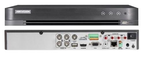 DS-7204HUHI-K1 - 4-х канальный гибридный видеорегистратор с разрешением записи до 5 MP на канал.