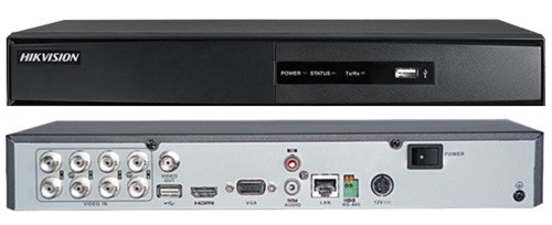 DS-7208HGHI-F2 - 8-ми канальный гибридный видеорегистратор с разрешением записи до 1080 р на канал, с 2-мя SATA-интерфейсами.