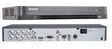 DS-7208HQHI-K2 - 8-ми канальный гибридный видеорегистратор с разрешением записи до 4MP на канал, с 2 SATA-интерфейсами.