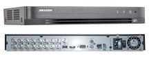 DS-7216HQHI-K2/P - 16-ти канальный гибридный видеорегистратор с разрешением записи до 4MP на канал, с 2 SATA-интерфейсами и поддержкой питания по коак
