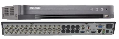 DS-7224HQHI-K2 - 24-х канальный гибридный видеорегистратор с разрешением записи до 4MP на канал, с 2 SATA-интерфейсами.