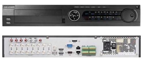 DS-7316HUHI-K4 - 16-ти канальный гибридный видеорегистратор с разрешением записи до 8 MP на канал, с 4 SATA-интерфейсами.
