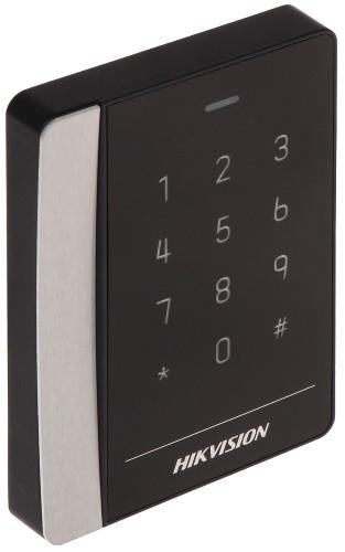 DS-K1102MK - Считыватель карт EM/Mifare с клавиатурой, IP64.