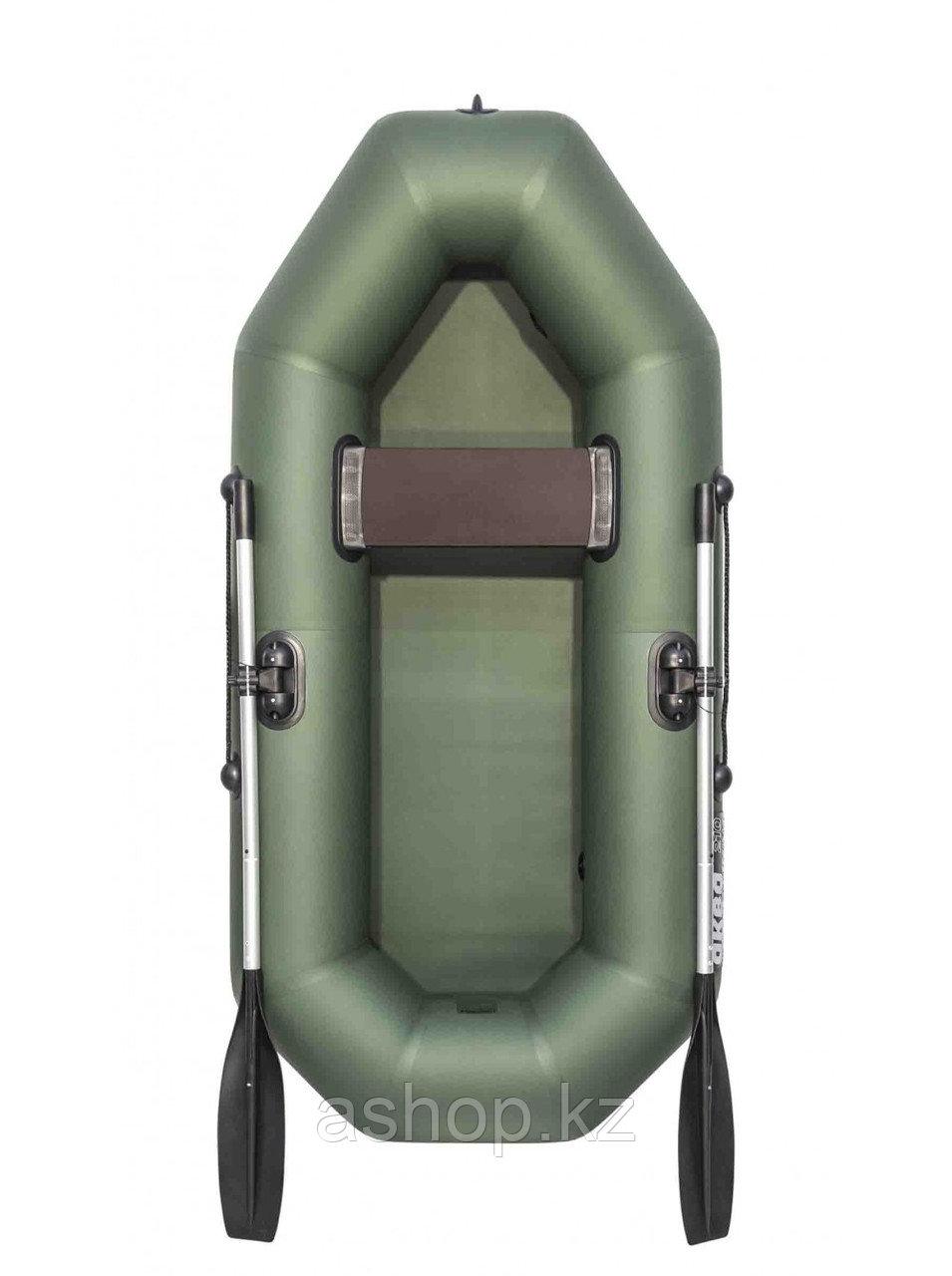 Лодка гребная надувная плоскодонная Аква Оптима 210, Грузоподъемность: 120кг, Вместимость: 1 чел., Кол-во отсе