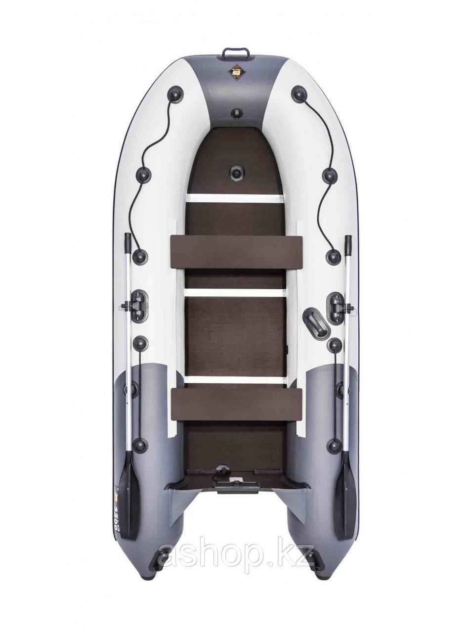 Лодка надувная моторно-гребная килевая Ривьера Компакт 3200 СК, Грузоподъемность: 500кг, Вместимость: 3 чел.,