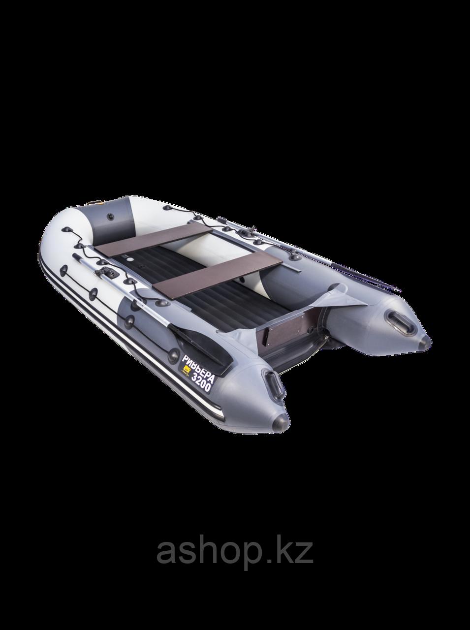 Лодка надувная моторно-гребная килевая Ривьера  3200 НДНД, Грузоподъемность: 500кг, Вместимость: 3 чел., Кол-в
