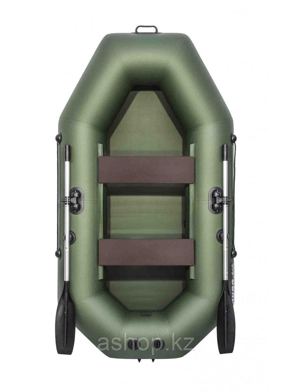 Лодка надувная моторно-гребная плоскодонная Аква Мастер 240, Грузоподъемность: 220кг, Вместимость: 2 чел., Кол