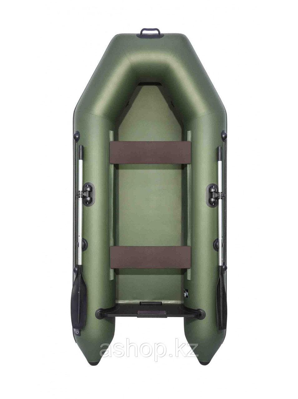 Лодка надувная моторно-гребная плоскодонная Аква 2800, Грузоподъемность: 220кг, Вместимость: 2 чел., Кол-во от