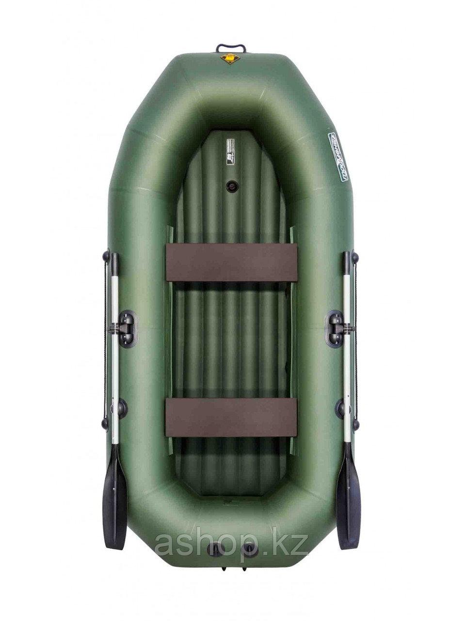 Лодка гребная надувная плоскодонная Таймень N 270 НД, Грузоподъемность: 220кг, Вместимость: 2 чел., Кол-во отс
