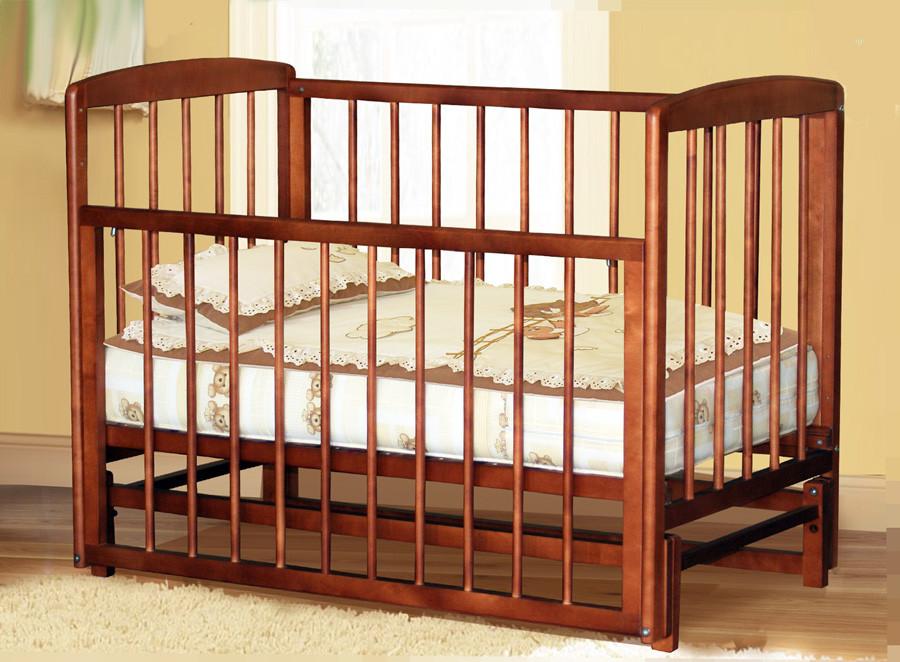 Детская кроватка Дарья орех, бук