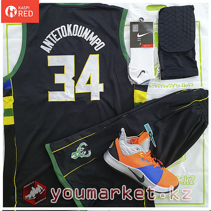 Баскетбольная форма «Милуоки Бакс» (Milwaukee Bucks) игрок Яннис Адетокумбо (Giannis Antetokounmpo) , фото 2