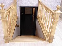 Перила и лестница деревянные