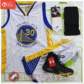 """Баскетбольная форма Golden State Warriors игрок """"Steph"""" Curry (Стеф Карри)  ( вышивка )"""