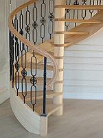Лестница сосна и металла