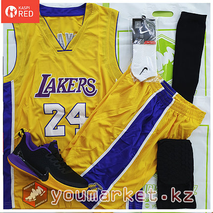 Баскетбольная форма «Лос-Анджелес Лейкерс» (Los Angeles Lakers) игрок Ко́би Бра́йант (Kobe Bryant), фото 2