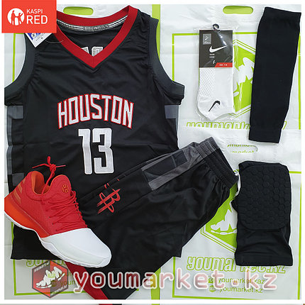 Баскетбольная форма «Хьюстон Рокетс» (Houston Rockets)  игрок Джеймс Харден (James Edward Harden), фото 2