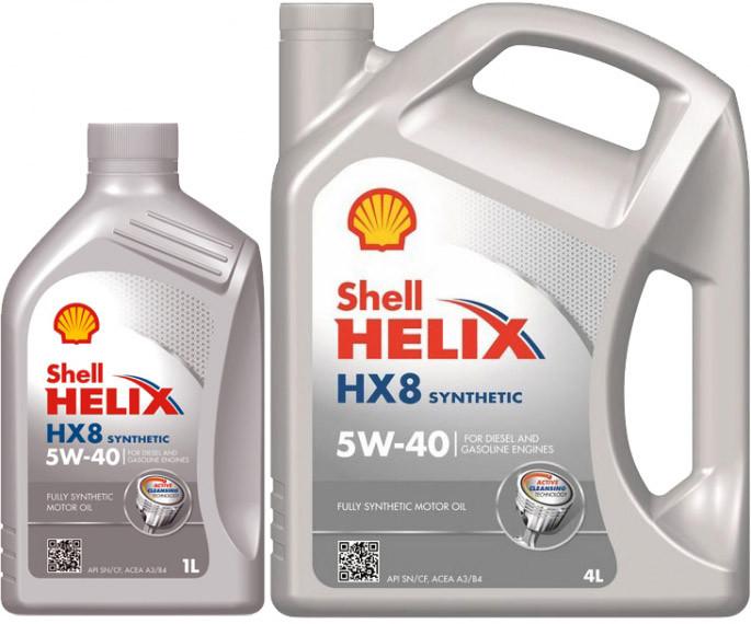 Моторное синтетическое масло Shell Helix HX8 Synthetic 5W40 1L