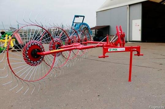 Грабли-ворошилки 5ти колесные D-pol, фото 2