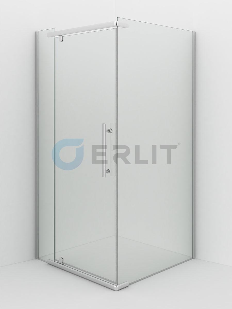 Душевое ограждение - Erlit ER10110H- C1 1000х1000х2000 (без поддона) светлое стекло