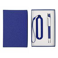 Набор SEASHELL-1: универсальное зарядное устройство (2000 mAh) и ручка в подарочной коробке, Белый, -, 25302