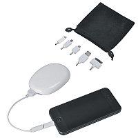 """Аккумулятор """"Handy"""" (2000мАh), в сумочке, с набором переходников и подставкой для телефона, белый, , 15512"""