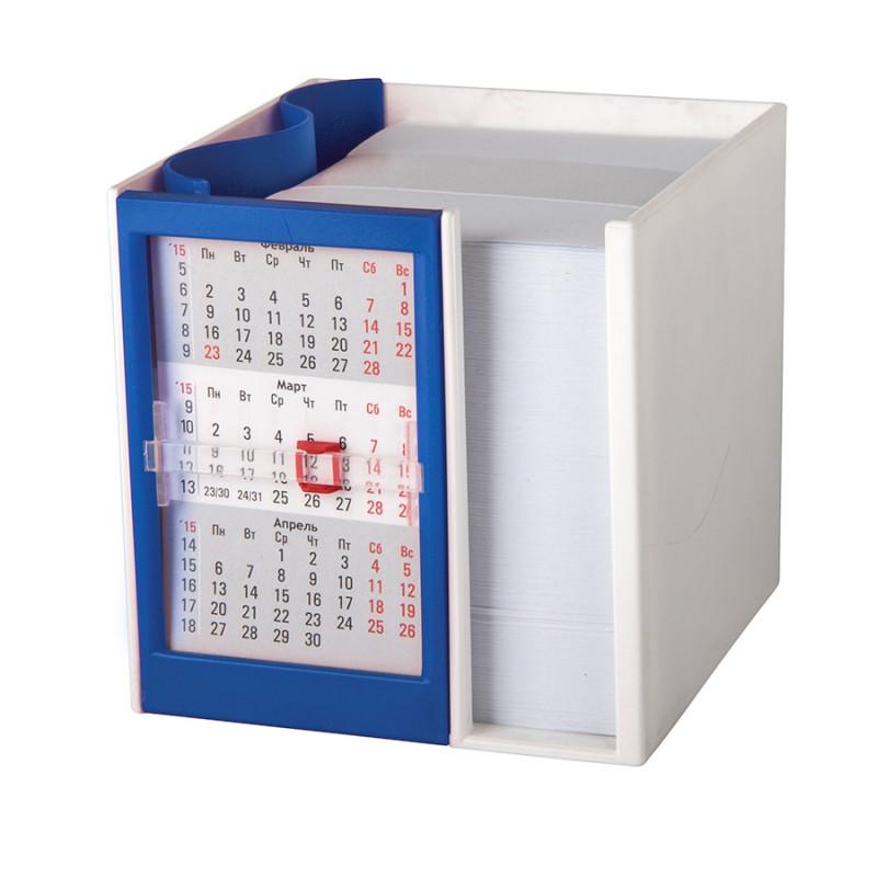 Календарь настольный  на 2 года с кубариком, Синий, -, 9505 24