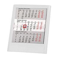 Календарь настольный на 2 года; белый; 13 х16 см; пластик; тампопечать, шелкография, Белый, -, 9534 01