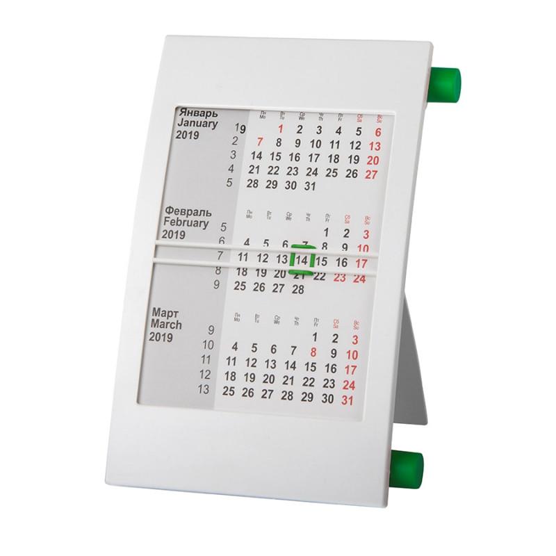 Календарь настольный на 2 года, Зеленый, -, 9510 15